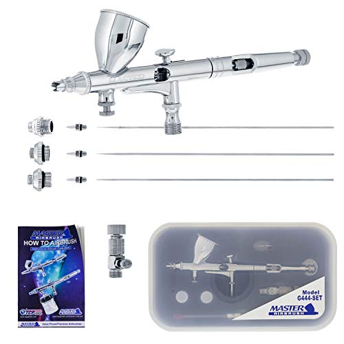 Master Airbrush G444-SET High Precision Detail Control Dual-Action Gravity F.