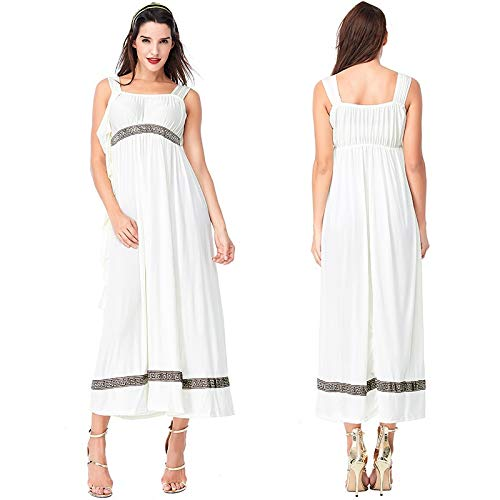 WHXYAA Halloween Party Costumes Couple White Loose Dress Funny Cosplay Party Clothes Adult Costume (Color : White Male, Size : M) -