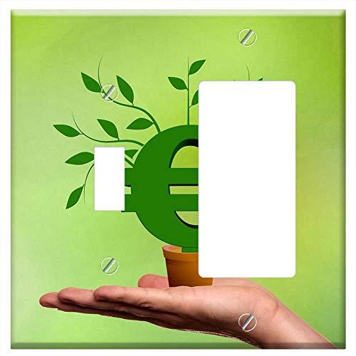 1-Toggle 1-Rocker/GFCI Combination Wall Plate Cover - Financing Business Euro Hand Present Presenta