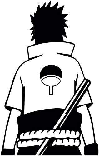 and laptop sticker Naruto and Sasuke Decal Car window toolbox