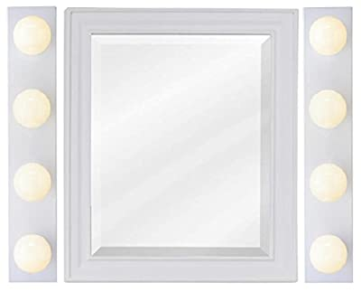 Westinghouse 6659500 4-Light Interior Bath Bar, White Finish