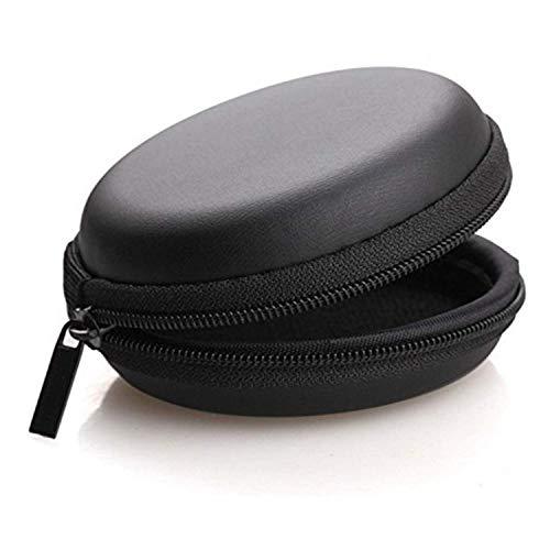 Kazy Earphone case | Headphone case | Earphone Pouch | Headphone Pouch |Earphone Cover, Carrying Case for Earphones, Headset, Pen Drives, SD Cards, All Mobile Accessories (Black)