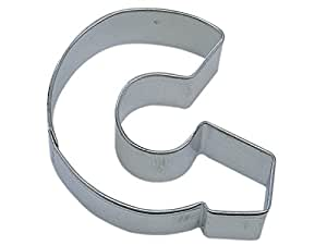 R&M Letter G Cookie Cutter in Durable, Economical, Tinplated Steel