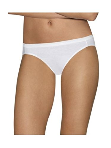 Bali Luxe Super Soft Stretch Cotton Bikini Panties with a Plush Waistband 4-Pack (Size 6 (39-40