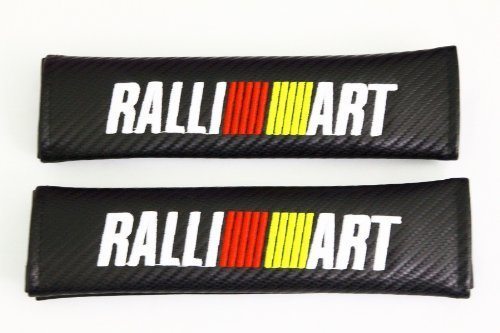 Spec-R Ralliart Carbon Fiber Seat Belt Cover Shoulder Pad Cushion - 1 pair