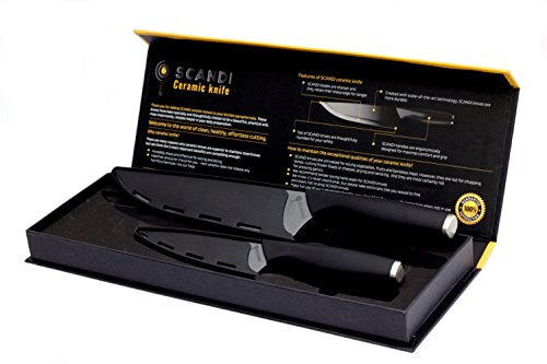 Professional-Ceramic-Chef-Knife-set-8-inch-5-inch-Sharp-black-ceramic-knivesSafety-Sheaths-EffortlessPerfect-cut-with-No-Sharpening-requiredLead-freeSuperior-Healthier-choicePremium-Gift