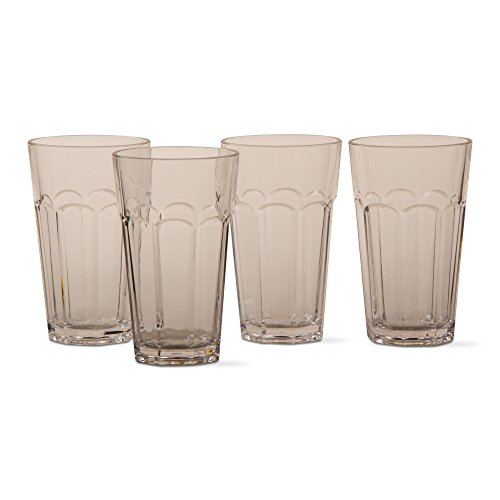 tag - Acrylic 16oz Tumblers, Classic Drinking Glass Perfect For Any Kitchen, Clear (Set of 4) (Fluted 16 Clear Oz)