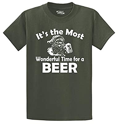 Comical Shirt Men's It's Most Wonderful Time for Beer Funny Christmas T-Shirt
