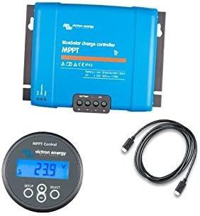 Victron Energy - Set Charge Controller BlueSolar MPPT 150/45-Tr 150VOC 45A + Display MPPT Control - SET-SCC010045200