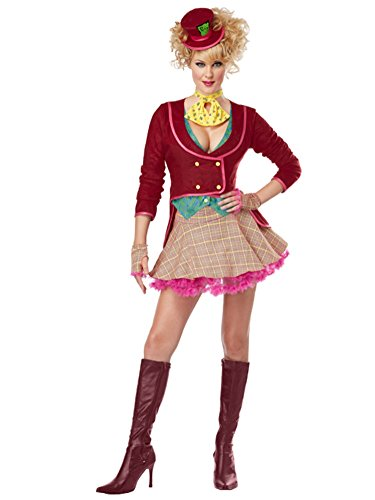 California Costumes Womens Mad Hatter Costume Medium (8-10) (Sexy Mad Hatter Costumes)