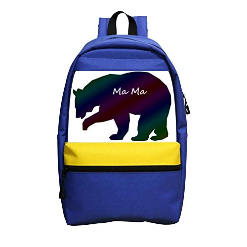 Bear Clipart-MaMa Children School Backpack Student Daypack For Girls & Boys - Bears Clipart