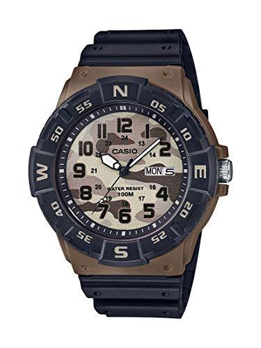Casio Men's Analog Quartz Resin Strap, Black, 24.77 Casual Watch (Model: MRW-220HCM-5BVCF) (Eberhard Watch)