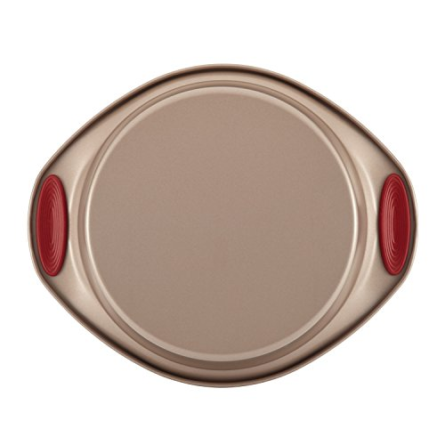Rachael Ray Cucina Nonstick Bakeware 10-Piece Set, Latte Brown with Cranberry Red Handle Grips by Rachael Ray (Image #7)