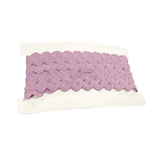 Rick Rack Trim 12mm Width Polyester Baby Ric Rac Trim Pink, 5M per Cards