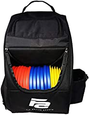 Fit Active Sports Discs Golf Bag | 28 Frisbee Set Capacity | Lightweight and Durable Travel Backpack | 2 Side