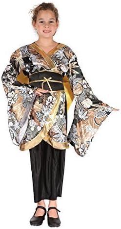 Fancy Me niña Negro/Dorado Geisha Internacional Oriental Bailarina ...