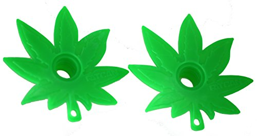 Marijuana Pot Leaf Ski Pole Baskets - Set Of Two by Fatcan