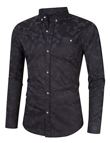MrWonder-Mens-Casual-Slim-Fit-Long-Sleeve-Button-Down-Shirts-100-Cotton-Printed-Dress-Shirts