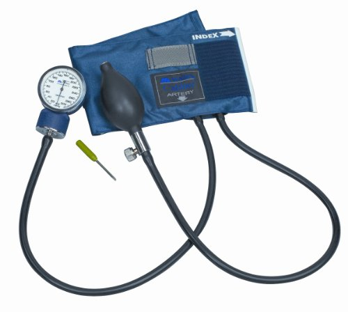 Mabis Dmi Healthcare 01-133-015 Caliber Series Adjustable Aneroid Sphygmomanometer - Child, Blue