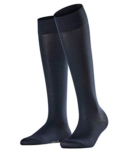 Falke Women's Cotton Touch Knee-High Socks, Dark Navy, 35-38 -