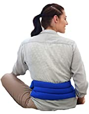 My Heating Pad- Adjustable Lumbar & Abdomen Heat Therapy Pack - Back Pain Relief (Blue)