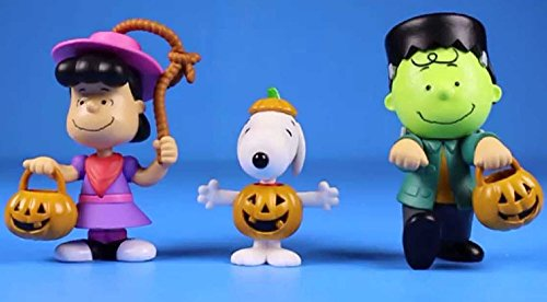 Peanuts Worldwide Lucy Snoopy and Charlie Brown Halloween Figures for Kids -
