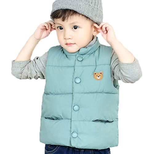 LANBAOSI Baby Girls&Boys Winter Cute High Neck Vest Lightweight Puffer Sleeveless Jacket Blue