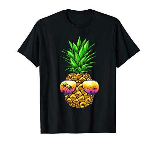 Pineapple Sunglasses T shirt Aloha Beaches Hawaiian Hawaii (Best Luau In Honolulu 2019)