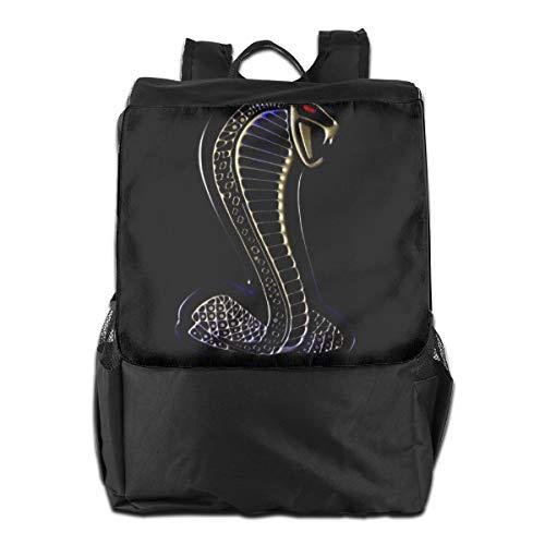 Price comparison product image Outdoor Shoulder Backpack Tavel Bag Daypack School Laptop Bag-Ford Mustang Cobra Logo