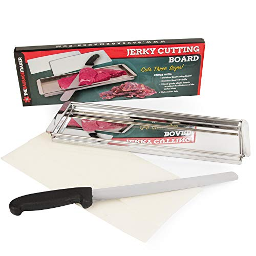Weston Jerky - TSM Products Jerky Cutting Board and 10-Inch Slicer Knife