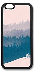 iPhone 6 Cases, Personalized Custom Soft TPU Black Edge Case Cover for New iPhone 6 4.7 inch Pink Snow Day
