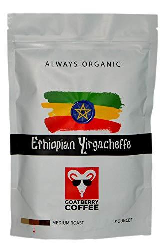 - GoatBerry Coffee Ethiopian Yirgacheffe Fresh Roasted Organic Coffee - Whole Bean