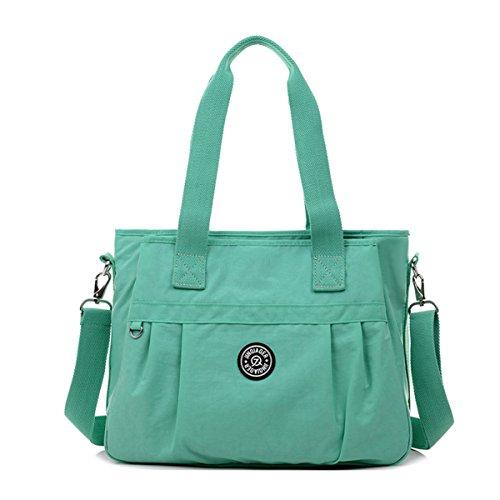 Tiny Chou Bolso cruzado, resistente al agua, nailon, bolsa con correa de hombro desmontable Verde - Green 2