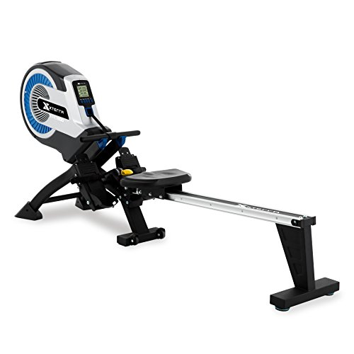 XTERRA Fitness ERG500 Air Turbine Rower, Silver/Black