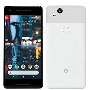 Google Pixel 2, 64GB, Clearly White, GSM Unlocked Android Smartphone, 5″ OLED Display, Fingerprint, 12.2MP+ 8MP Cameras (Renewed)