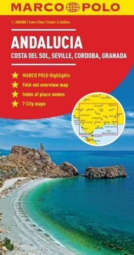 Andalucia, Costa Del Sol, Seville, Cordoba Marco Polo Map (Marco Polo Maps) (Road Map Spain)