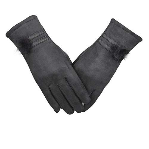 Women Gloves Winter Warm Leather Fashion Soft Wrist Gloves Mittens Women's Touchscreen,Gray,China,One Size