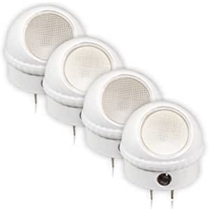 Maxxima MLN-10 LED Night Light with Dusk to Dawn Sensor (Pack of 4)