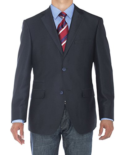LN LUCIANO NATAZZI Mens Two Button Notch Lapel Blazer Modern Fit Suit Jacket