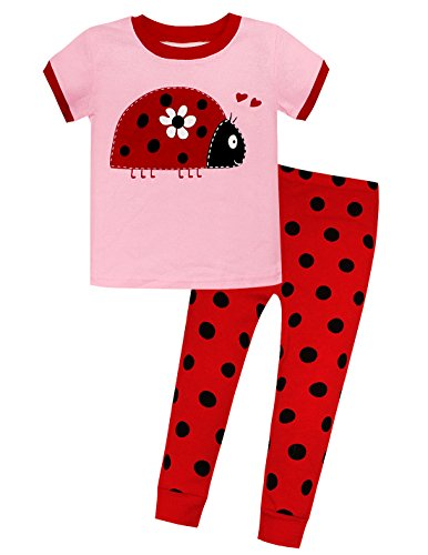 Price comparison product image Viobarmo Little Girls Pajama Set Kids T Shirt Top & Pants 100% Cotton Sleepwear (2-7 Years)