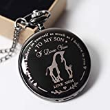 to My Son Pocket Watch,Engraved Pocket Watch for
