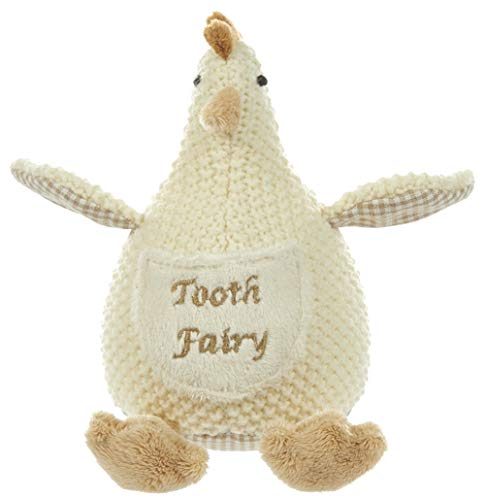 Maison Chic Cluck The Chicken Plush Tooth Fairy Figure Pillow for Little Boys About to Loose a Tooth and Celebrate That First Milestone (Chicken, Cluck)