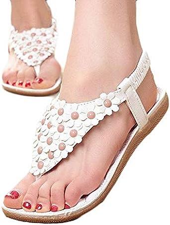 Alaso Sandale Bohême de Fleur Chaussure d'été Confortable