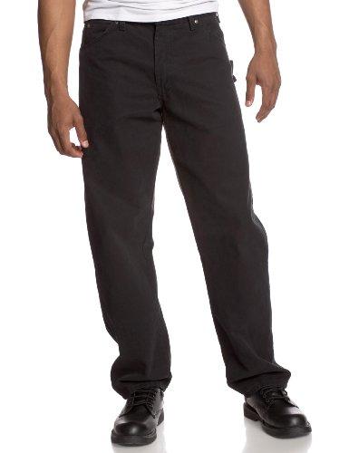 Dickies Men's Sanded Duck Carpenter Jean, Black, 32x32 ()