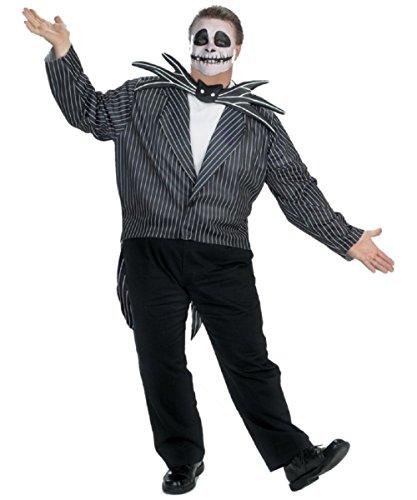 Jack Skellington Costume - Plus size (Jack Pumpkin King Halloween Costume)