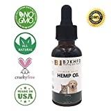 Hemp Oil for Dogs and Cats - Full Spectrum Hemp Oil Extract - Natural Relief for Pain, Separation Anxiety, Skin Conditions, Supports Hip & Joint Health - Non-GMO/Made in USA - Easily Apply to Treats