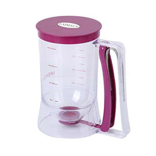 Pancake Batter Dispenser Batter Measurement Funnel Cake Waffle Muffin Batter Dispenser with Measurement Label 900ml