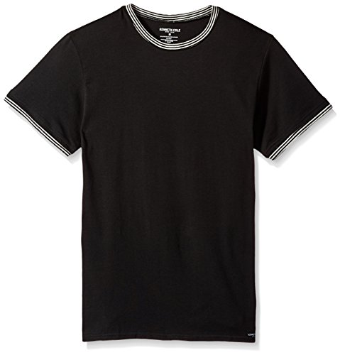 Kenneth Cole New York Men's Crew Neck T-Shirt, Black, S