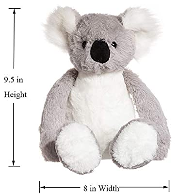 charaHOME Koala Bear Stuffed Animal Plush Toy, Grey White, Soft Cuddly, Gifts for Kids, 10'': Toys & Games