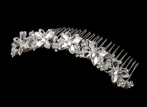 Adriana Swarovski Butterfly Wedding Bridal Tiara Comb